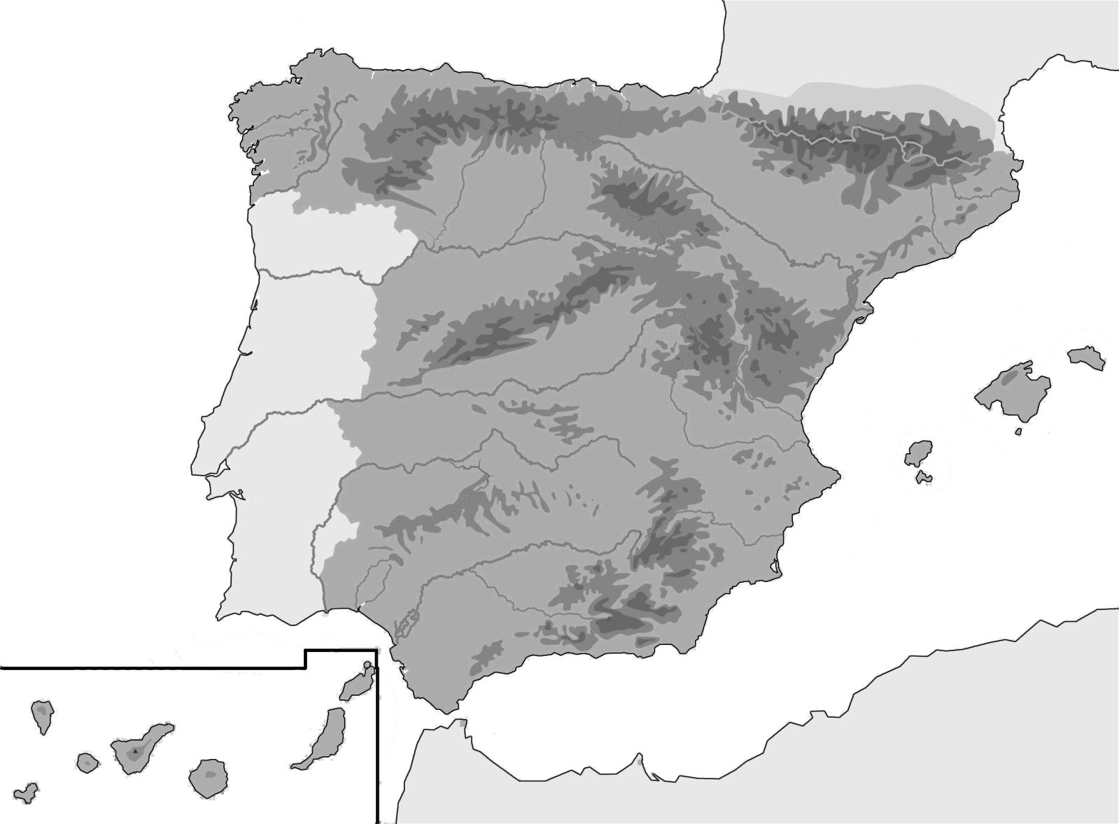 Juegos De Geografía Juego De Mapa Físico Península Ibérica 1º Eso Cerebriti