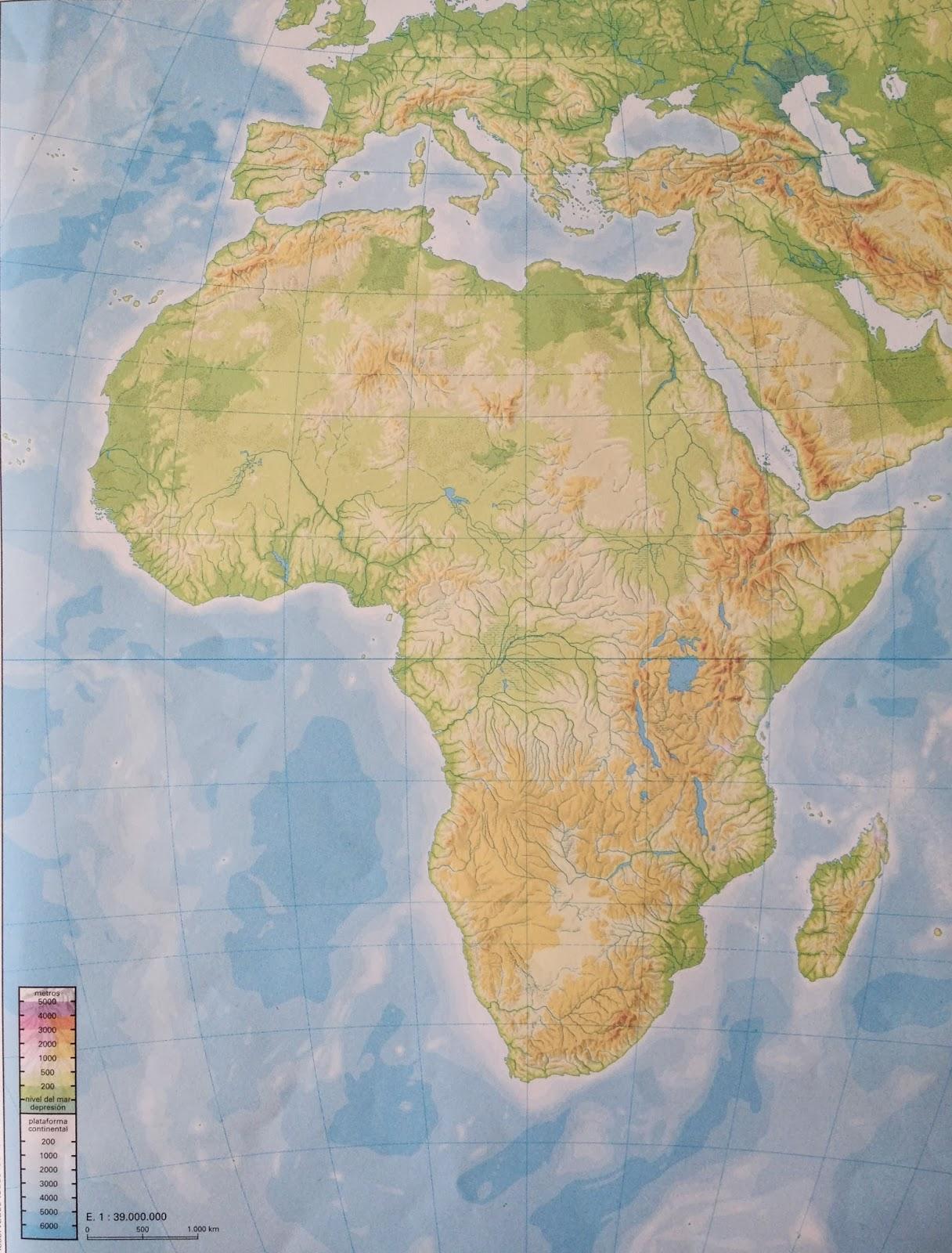 Juegos De Geografía Juego De Mapa Físico De áfrica 4 Cerebriti