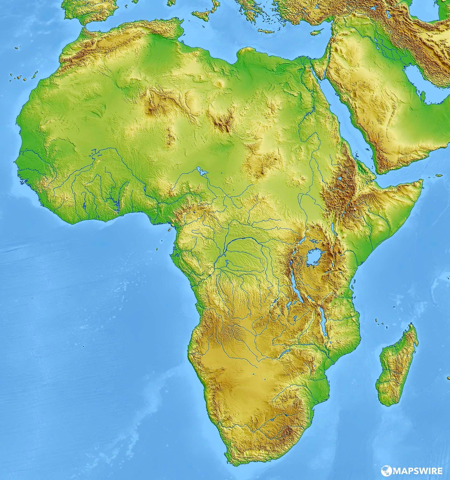 Juegos De Geografía Juego De Mapa Físico De áfrica 6 Cerebriti